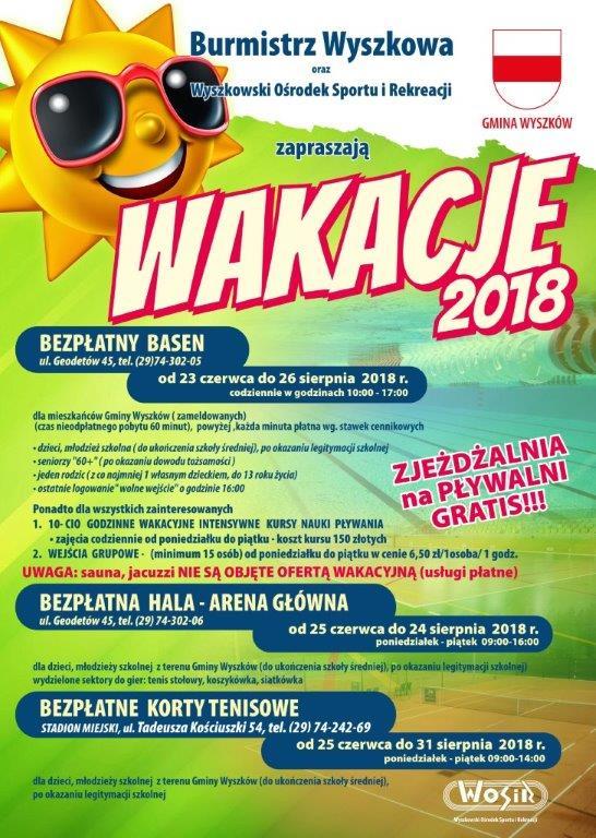 PLAKAT - WAKACJE 2018